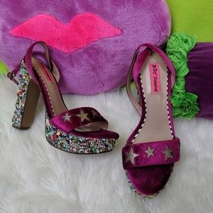 BETSEY JOHNSON STARS AND GEMS HEELS